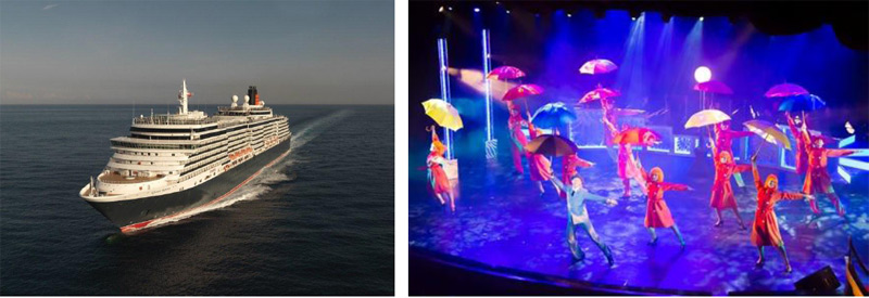 「クイーン・ヴィクトリア」船上の新ステージショー『ハリウッド・ロックス』初演に賞賛の嵐